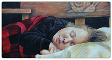 "Portrait Art Paintings ""Dreaming of Snails"" by Chris Harman"