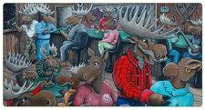 Whimisical Paintings - Moose Paintings by Chris Harman