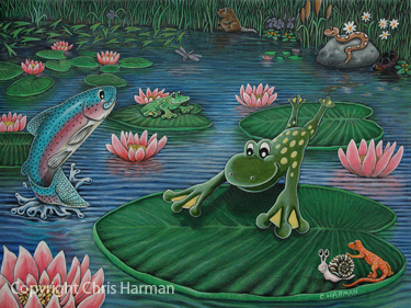 Fine Art, Fine Art, Fine Art Paintings, Frog Art, Frog Prints, Whimisical Frogs, Frogs