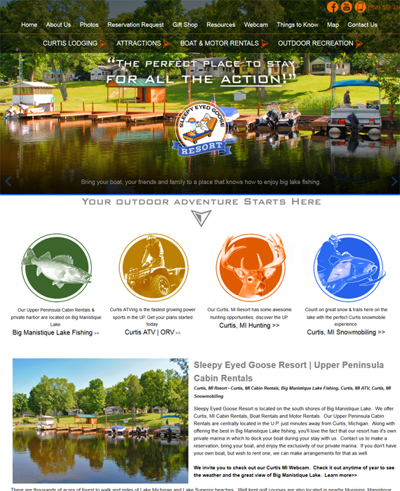 Upper Peninsula Resort Website