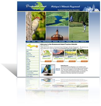 Velvet Green Creations, Featured Testimonial:  Drummond Island Tourism Association - Michigan's Ultimate Playground