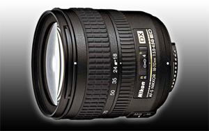 Digital Camera Lenses - Information on our camera lenses preferred by Velvet Green.  Nikon Lenses - 18-70mm