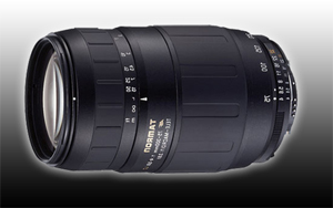 Digital Camera Lenses - Information on our camera lenses preferred by Velvet Green.  Tamron 75-300mm Lense