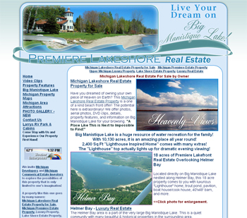 Michigan Luxury Lakeshore Real Estate
