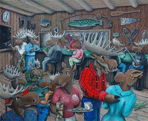 """Evening at the Moose Track"""