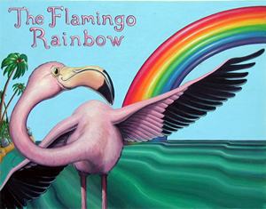 Children's Book Art, Children's Book Illustration - The Flamingo