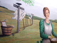 The Washboard Lady Mural