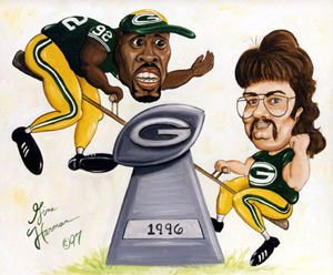 Mike and Reggie White Characature Painting